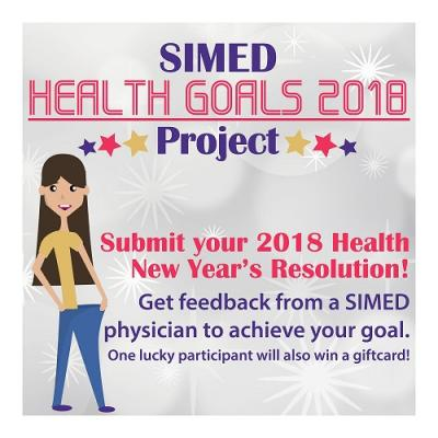 SIMED Health Goals 2018 Project New Year's Contest Campaign