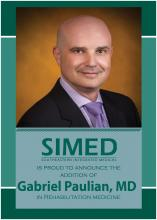 SIMED introduces new doctor Gabriel Paulian to rehabilitation medicine