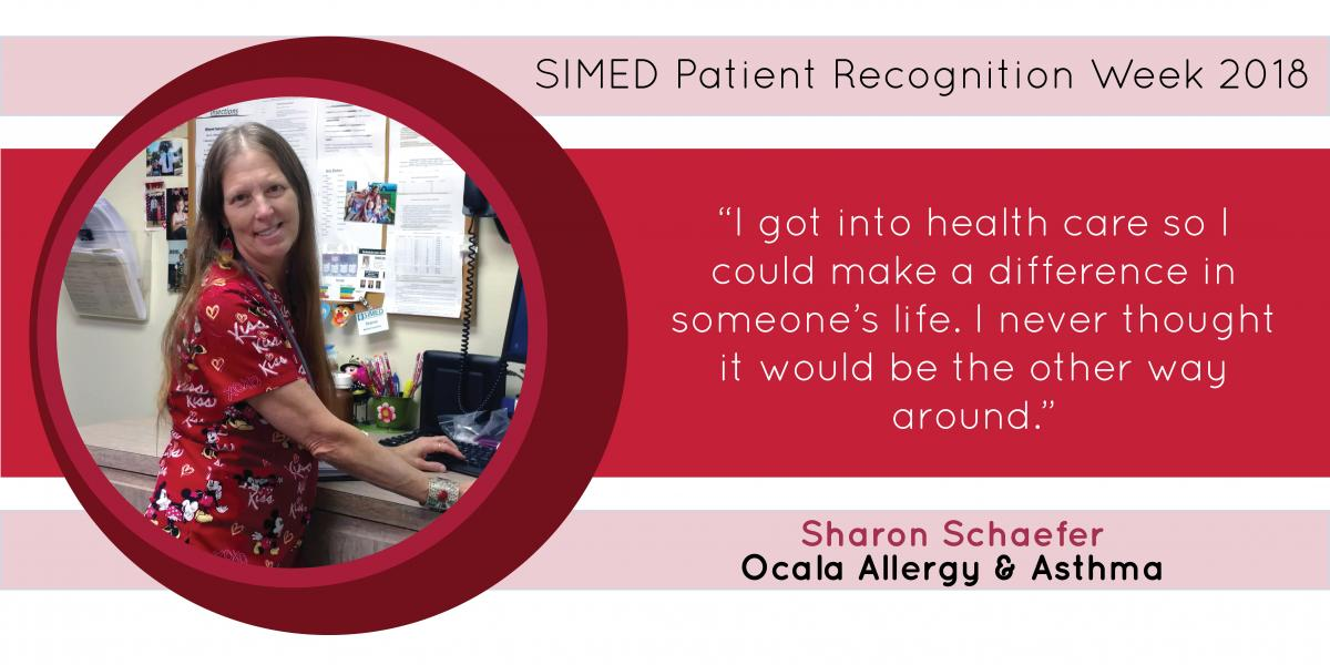 Sharon Schaefer, at SIMED Ocala Allergy and Ashma, shares that her patients make a difference in her life.
