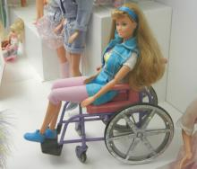 barbie doll in a wheelchair