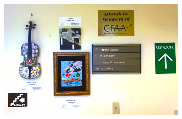 The Gainesville Fine Arts Association (GFAA) showcases their art at the SIMED medical hub in Gainesville.